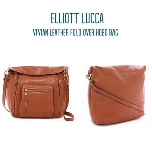 NEW Vivien Leather Foldover Bag